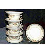Theodore Haviland Limoges France  ( 4 Cups and 6 Saucers) AA20-2347A Vin... - $95.95