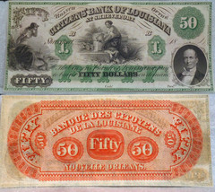 Louisiana , New Orleans  CITIZENS BANK  - UNCIRCULATED remainder  $50 18... - $246.51