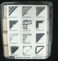 Stampin Up Rubber Wood Stamps Creative Corners Set Of 12 Vtg 1998 New - $12.86