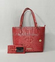 SET Brahmin Medium Misha Tote/Shoulder Bag+Credit Card Wallet in Petal Melbourne - $339.00