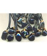 Decorated Apache Tear Obsidian Gemstone Pendant - $3.80