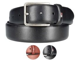Tommy Hilfiger Men's Premium Smooth Feather Edge Leather 35MM Belt 11TL01X049