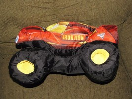 MONSTER JAM PUFF PILLOW TRUCK MARVEL IRON MAN FELD MOTOR SPORT STUFFED P... - $28.21