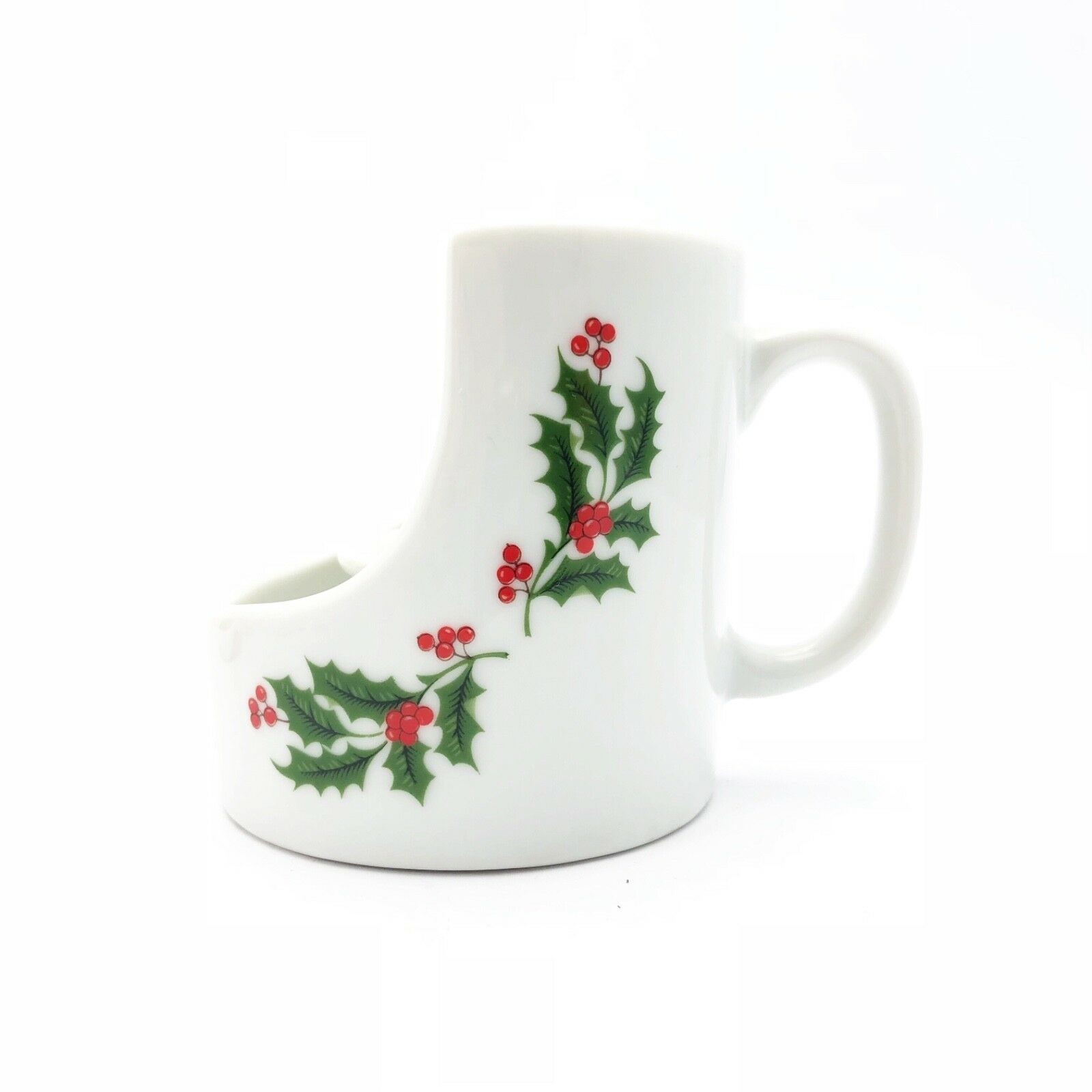 Vintage Taper Candle Holder Handle by Lenox Candles Christmas Holly Berries - $10.88