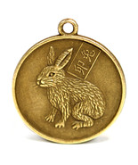 """YEAR of the RABBIT GOOD LUCK CHARM 1"""" Chinese Zodiac Horoscope Feng Shui... - $6.95"""