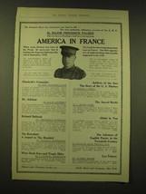 1918 Dodd, Mead & Company Ad - America in France - $14.99
