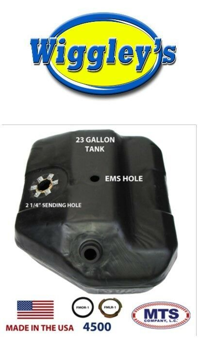 PLASTIC FUEL TANK MTS 4500 FITS 84 FORD BRONCO II 23GAL TOP W/ EMS NO VENT PIPE