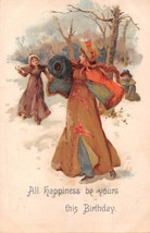 ALL HAPPINESS BE YOURS~WALTER WHEELER #208 BIRTHDAY GREETING POSTCARD c1... - $6.75