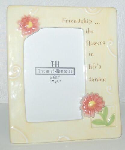 Ganz EA6732 Treasured Memories Friendship Picture Frame Color Yellow