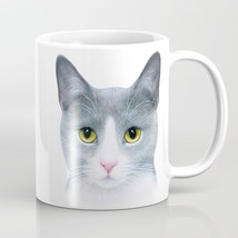 Coffee Mug Cup 11oz or 15oz Made USA Cat 611 grey gray pet art L.Dumas - $19.99+