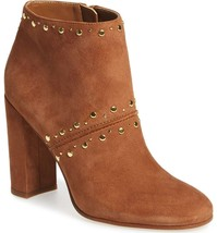 SAM EDELMAN Ankle Booties Chandler Zip Saddle Suede Heeled Leather Boots... - $73.43