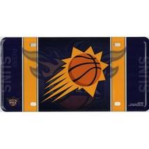 phoenix suns fan nba basketball metal license plate made in usa - $27.07
