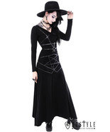 Restyle Pentagram Witch Wicca Magic Punk Gothic Emo Adult Womens Maxi Skirt - £51.69 GBP