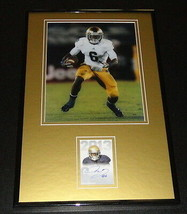 Theo Riddick Signed Framed Rookie Card & Photo Display Notre Dame Lions - $45.45