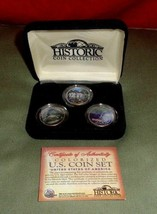 UNCIRCULATED NEW YORK TEXAS LOUISIANA COLORED STATE QUARTERS DISASTER SE... - $15.00