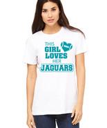 This Girl Loves Her jaguars football T Shirt, jacksonville jaguars fan t... - $19.79+