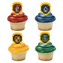 Harry Potter - Hogwarts Houses Cupcake Rings - 24 pc by DecoPac - $6.91