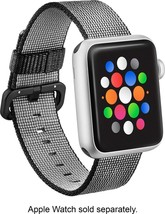Modal - Woven Nylon Band Watch Strap For Apple Watch 38mm - Black - $15.83