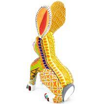 Handmade Alebrije Oaxacan Wood Carving Painted Folk Art Jackrabbit Rabbit Figure image 3
