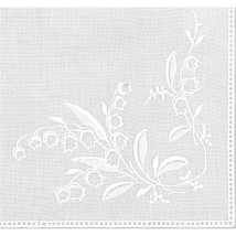 "Cotton Handkerchief 9.5""X9.5""-Lily Of The Valley White - $11.71"