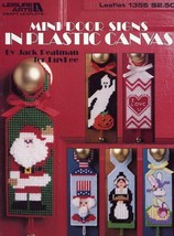 Mini Door Signs Holidays 6 Designs Plastic Canvas PATTERN/INSTRUCTIONS - $2.67