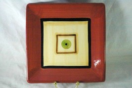 Gail Pitman 2002 Squares Salad Plate hand painted Signed - $10.39
