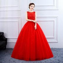 Designer Floor Length Princess High Waist Plus Sizes Bridal Wedding Gown image 5