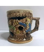 Vintage Ceramic Mustache Stein Shaving Cup Mug Made in Japan - 1950's - $14.00