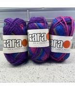 Karaoke Yarn Lot Of 3 South West Trading 299 Splash Soy Silk Wool 50g 100m - $19.84