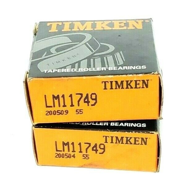 LOT OF 2 NIB TIMKEN LM11749 TAPERED ROLLER BEARINGS CONE 0.6875IN IDM 0.5750IN