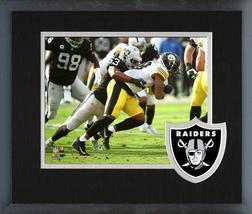 Jason Cabinda 2018 Oakland Raiders -11x14 Team Logo Matted/Framed Photo - $43.95