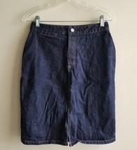 GAP Denim Straight Pencil Skirt, 100% Cotton, Indigo Blue, Size 4, Pre-owned - $20.24