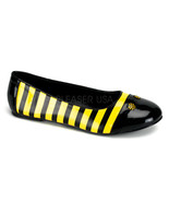 FUNTASMA Bee-16 Blk-Yellow Pat Flats - Black-Yellow Patent - $28.95