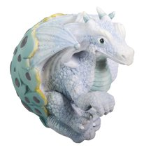 YTC Ice Blue Dragon Hatching Collectible Figurine Statue Sculpture Figure - $15.81