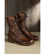 Handmade Men brown Military boots, Men brown high ankle combat boots, Me... - $179.99