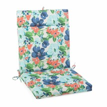 "Blue Garden Outdoor Patio Chair Cushion Pad Hinged Seat Back 44"" L x 22"" W - $58.90"
