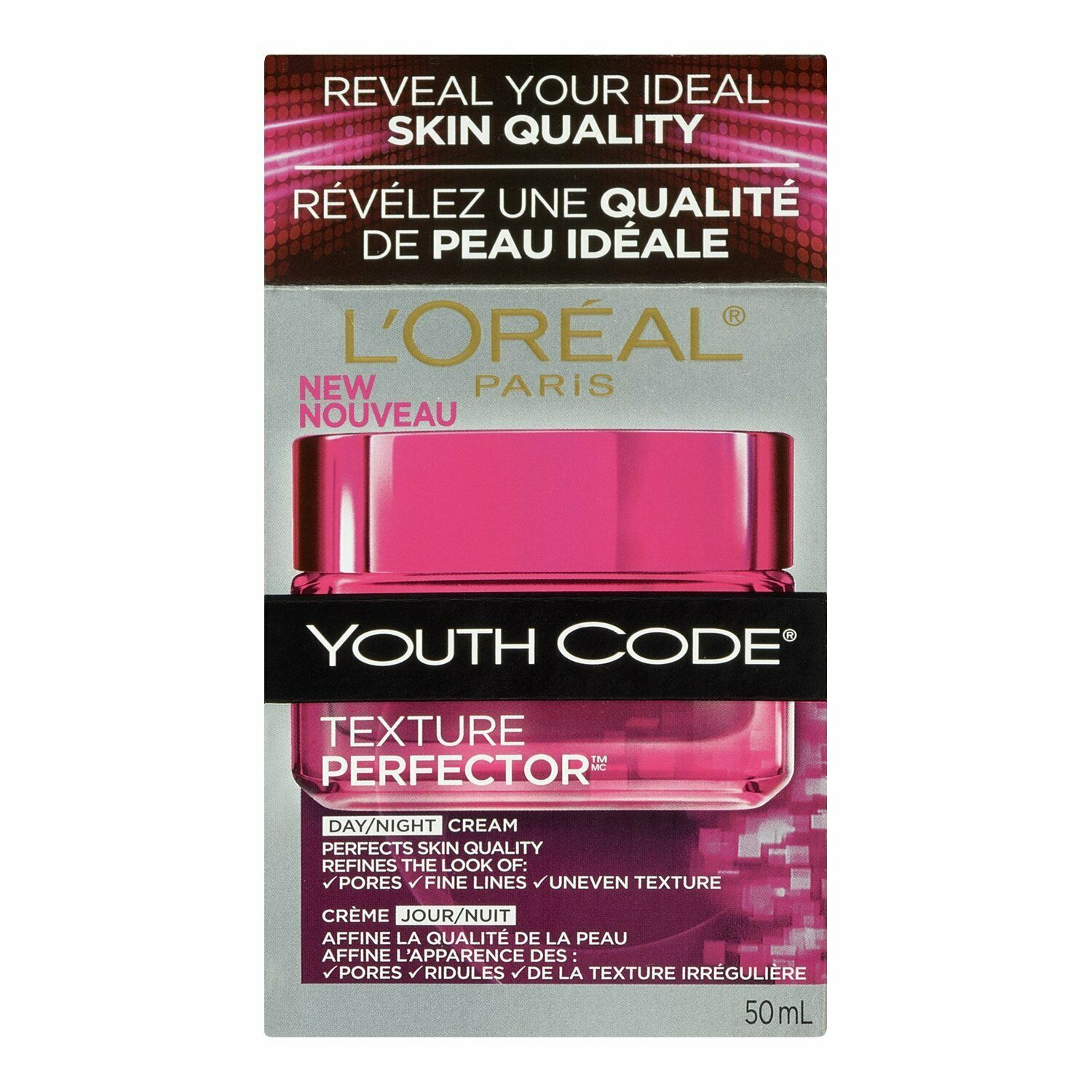 Primary image for L'Oreal Paris Youth Code Texture Perfector Day/Night Cream, 1.7 Fluid Ounce