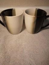 (2)  SANGO  COFFEE MUGS / CUPS  ECLIPSE BLACK  4975 -FREE SHIP-VGC - $22.68
