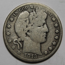 1913 Liberty Barber Head Half Dollar 50¢ Silver Coin Lot# MZ 3973