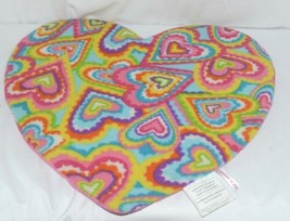 Molly N Me Multi Colored Hearts Pink No Slip Backing Floor Bath Mat image 2
