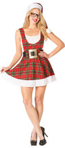 Rasta Imposta Hipster Ms. Claus Donne Adulte Natale Costume Halloween 762 - $35.54