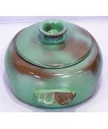 Vinatge Frankoma Art Pottery Prairie Green 2-Quart Casserole, Marked 5V - $14.95