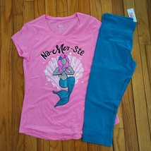 03b21b1a6b4532 NWT Justice Girls Justice Mermaid Top/Cropped Leggings Size 14 16 - $21.99