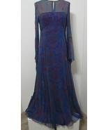 Vintage Maxi Dress Sheer Paisley Silk Bias Cut Angel Wing Hippie Boho Fe... - £273.67 GBP