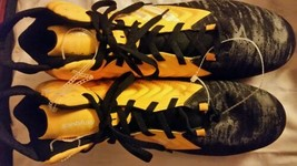 Adidas Men's Filthyquick Football Yellow Black Molded Cleats Size 16 NEW - $14.68