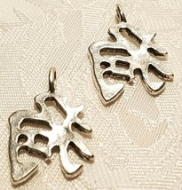 CHINESE SYMBOL FINE PEWTER CHARM - ANTIQUE SILVER FINISH image 1