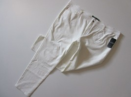 NWT Lauren Ralph Lauren Pearl White Slim Straight Leg Stretch Twill Pant... - $31.99
