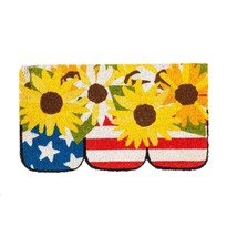 Evergreen Flag 2RM419 Stars and Stripe Jars Shaped Coir Mat, Multi-Colored - $32.54