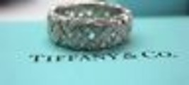 Tiffany & Co Platinum Vannerie Diamond Band Ring 2.80CT Size 6.5 - $6,880.50