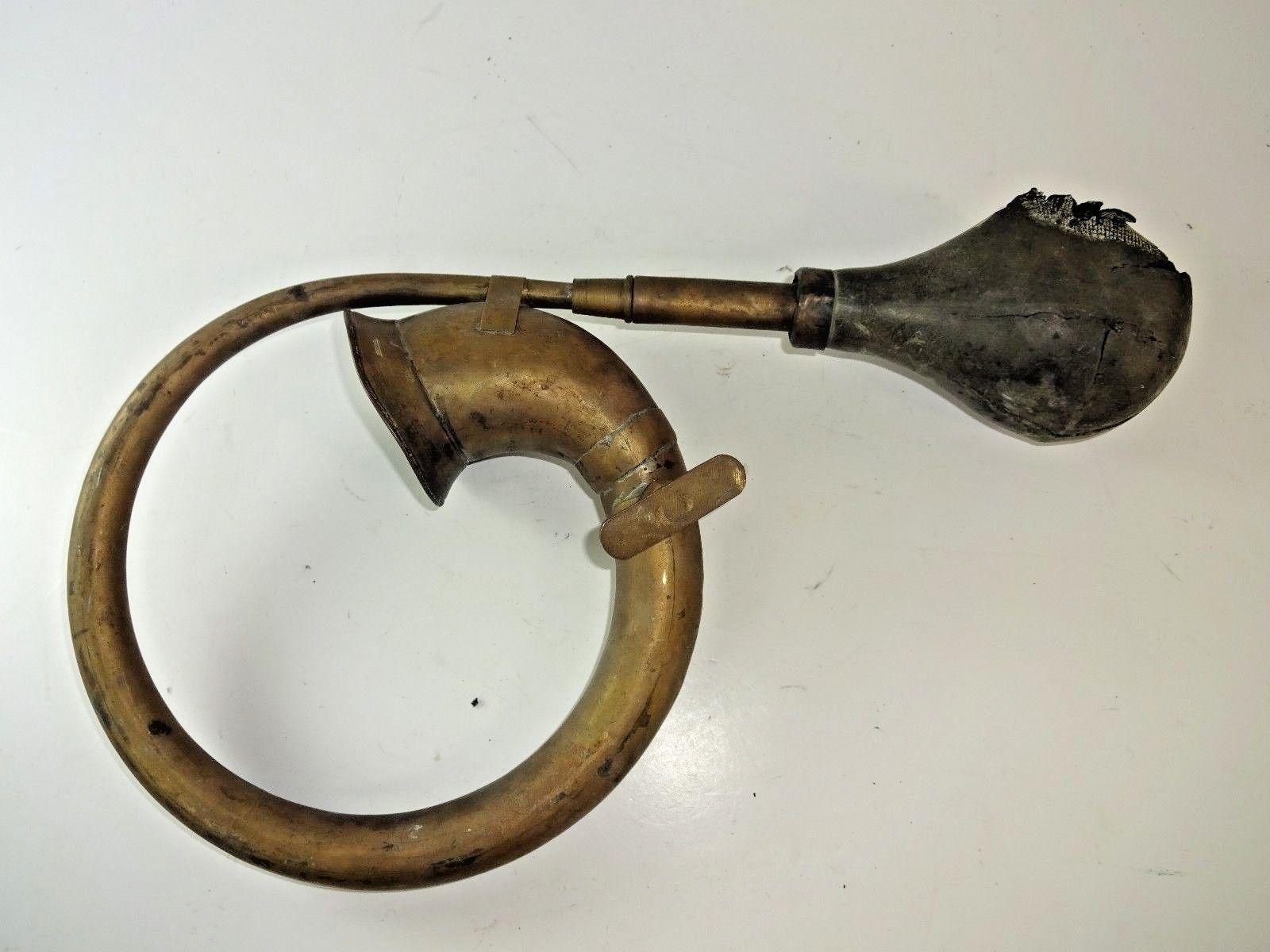 Brass Ring Air Big Horn Antique Brass Big Clown Soft Rubber Bulb